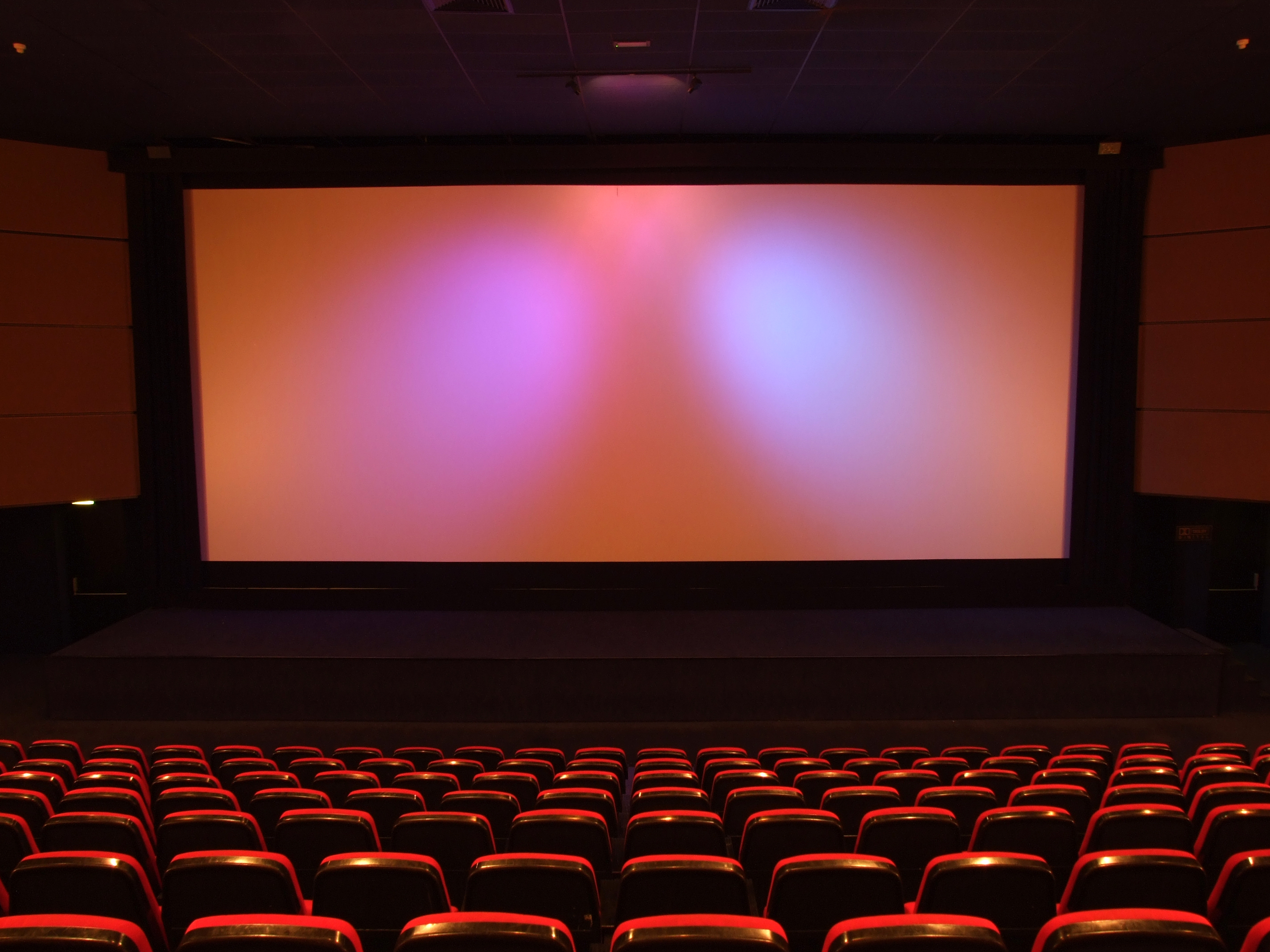 Image of an empty movie theater